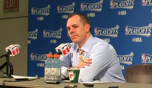 Frank Vogel addresses the media after Game 6.