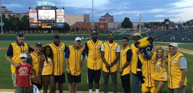 Paul George's gold team came up short Thursday night, losing to Robert Mathis' Colts.