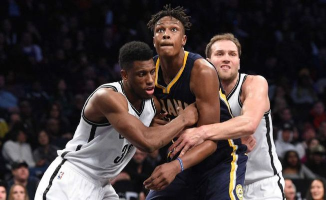Thad Young and Myles Turner will head up the Pacers' frontcourt next season.