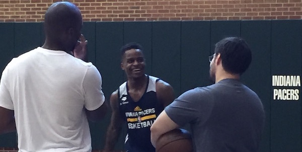 Park Tudor and IU product Yogi Ferrell worked out for the Pacers on Friday.