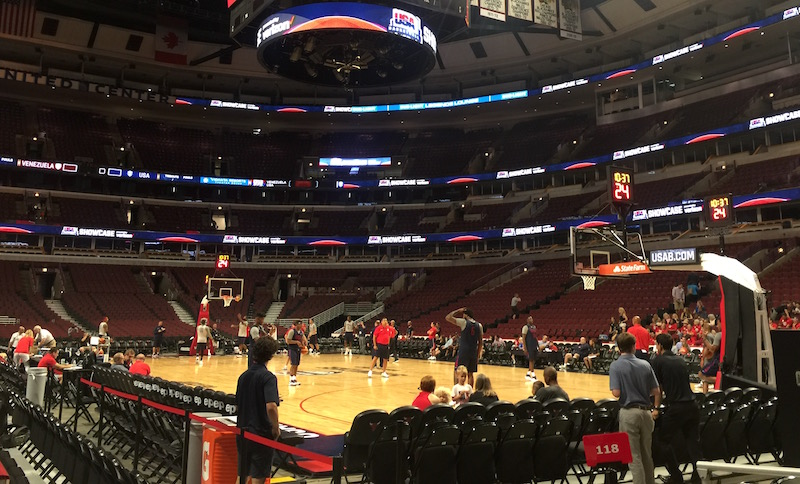 The US Men's Olympic Team practiced at the United Center this week.