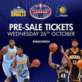 Pre-sale tickets went on sale Wednesday for the Pacers' game in London.
