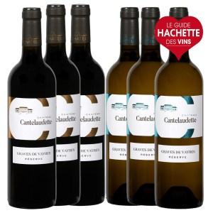 assortiment bouteille de vins blanc et rouge