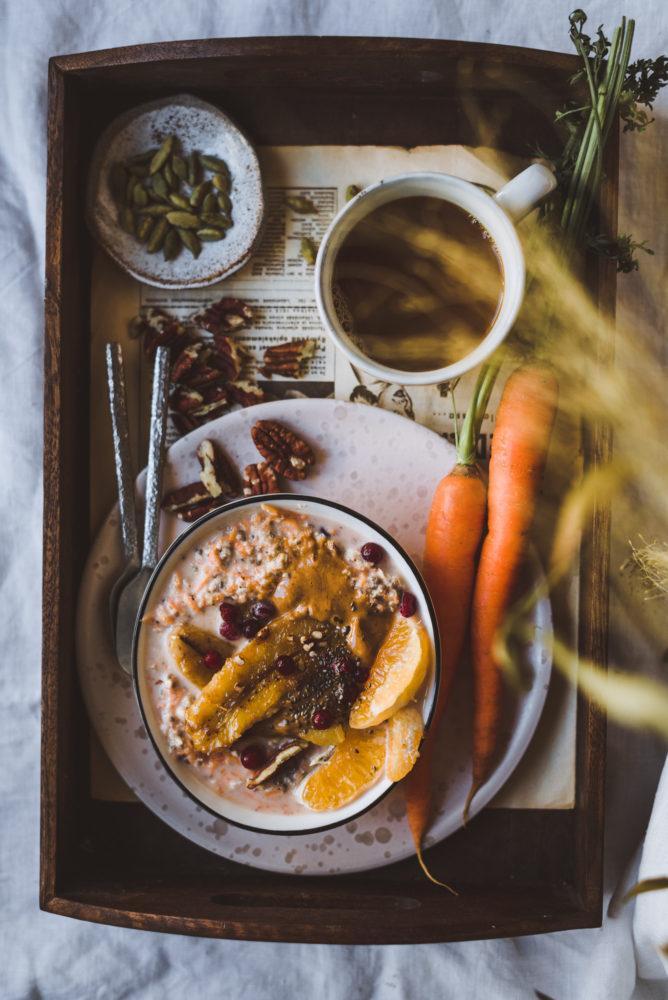 Porkkanakakkutuorepuuro. Vegaani