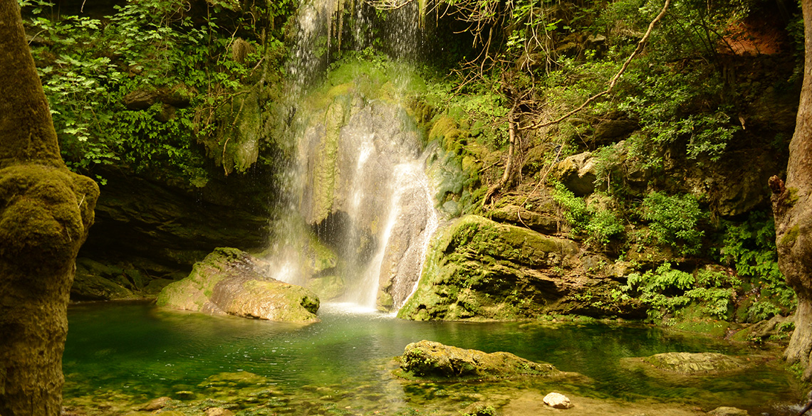 Waterfall of Mylopotamos