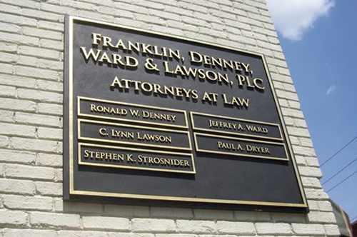 Attorney signs viking forge design