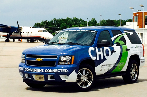 cho airport tahoe vehicle wrap viking forge design
