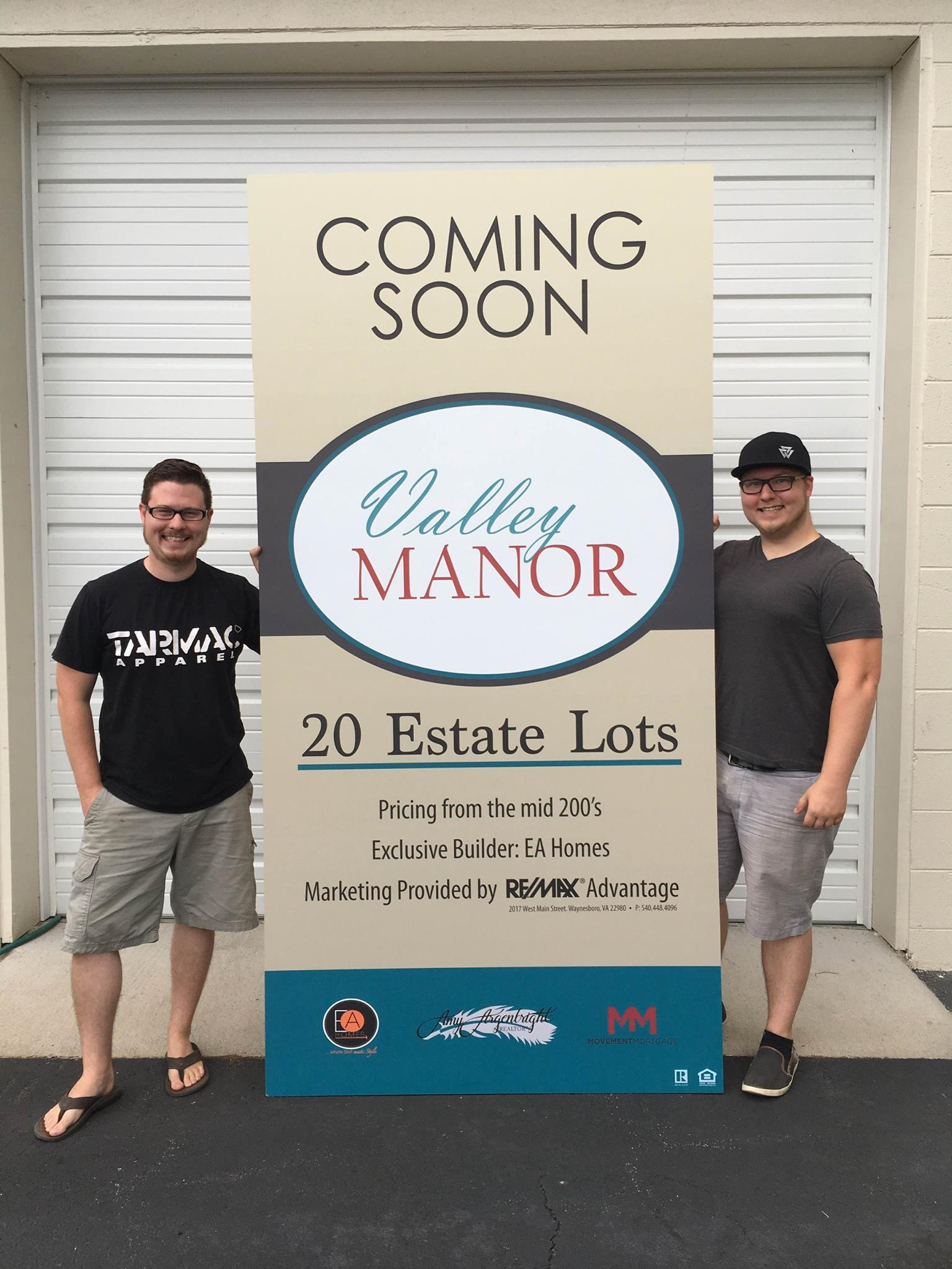 valley manor large sign
