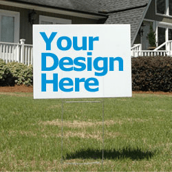 custom yard sign design