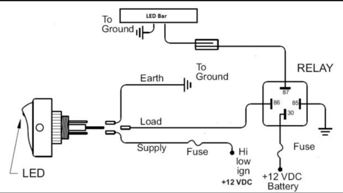 wiring diagram for sdtech light bars  honda trx 300 wiring