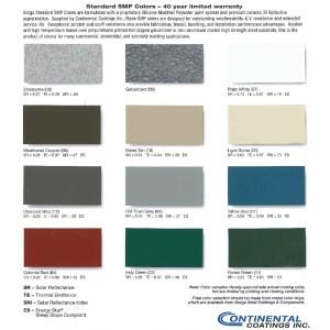 Borga Standard SMP colors