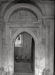 Doorway of the Church of the Holy Cross in Avening