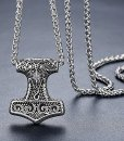Mens-Stainless-Steel-Viking-Thors-Hammer-Pendant-Necklace-24-Link-Chain-aap150-0-0