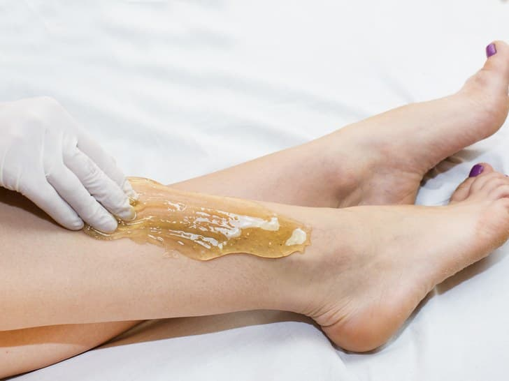 Sugaring to remove unwanted hair