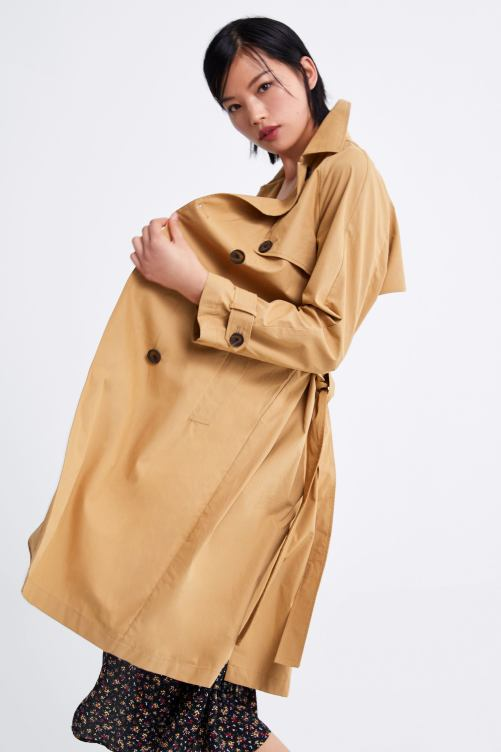 Image 1 of BUTTONED TRENCH COAT from Zara
