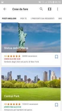 Google Trips cose da fare