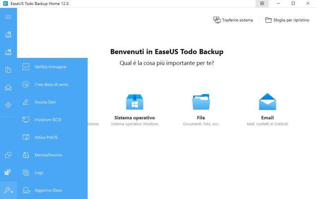 EaseUS Todo backup Home: un programma che salva tutto 1