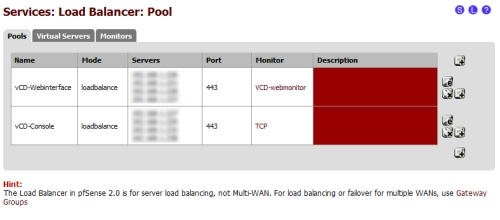 vCloud Director Howto: Load balancing with free pfSense