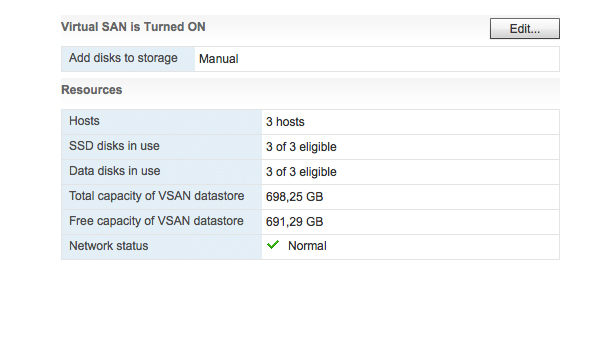 About VSAN capacity and VMDK placement