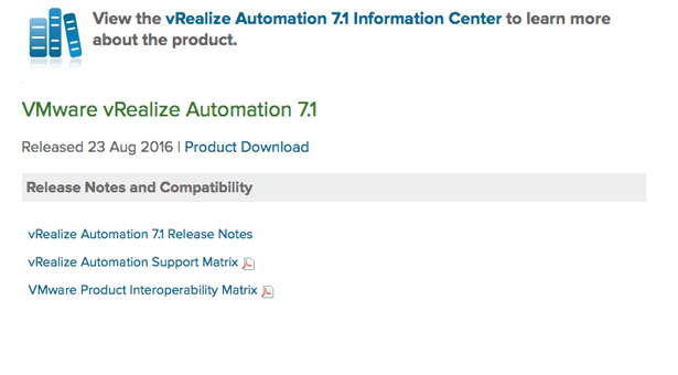 vRealize Automation 7.1 is General Available!