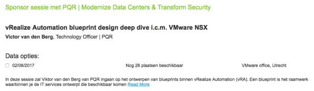 Vmware summerschool vra blueprint design with nsx networking for several years the vmware nl team is organizing summerschool in july and august you have the opportunity to join vmware experts in half day summerschool malvernweather