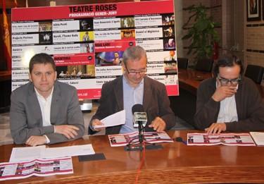 El regidor de Cultura, Marc Danés, l'alcalde Carles Pàramo i el director del TMR, Enric Matarrodona