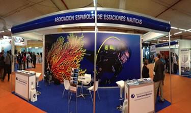 Estand al Dive Travel Show de la Associació Espanyola de Estaciones Nàutiques