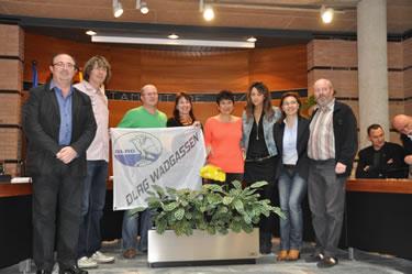 Imatge de la recepció de l'Ajuntament de Roses als organitzadors