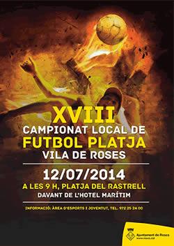XVIII Torneig de Futbol Platja Vila de Roses