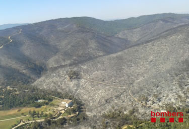 Incendi a Vall-llobrega