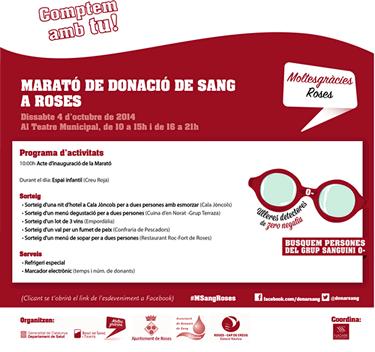 Marató de donació de sang a Roses