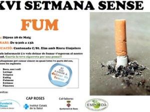 XVI Setmana sense Fum