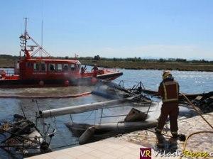 Vaixells cremats a Santa Margarida