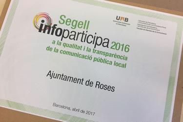 Roses revalida el Segell Infoparticipa