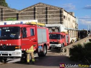 Nou foc a l'antiga depuradora de marisc