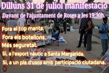 Manifestació de l'Associació de Comerciants de Santa Margarita