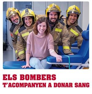 'Els Bombers t'acompanyen a donar sang'