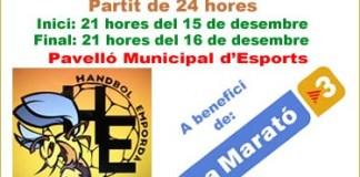 Club Handbol Empordà amb La Marató de TV3