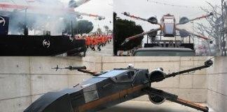 La nau X-Wing de la Colla Los Regateros de Roses a Starraco Wars