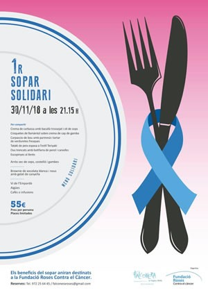 Sopar solidari del restaurant Falconera de Roses