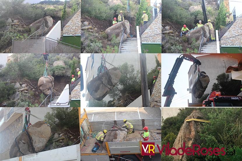 Es descalça una roca de més de 4 tones al Puig Rom