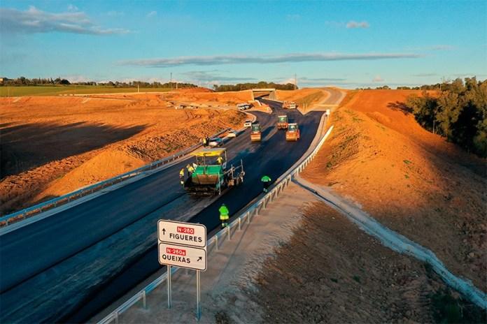 Restabliment de la circulació per la carretera N-260