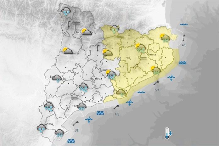 Episodi de baixes temperatures, precipitacions i fort onatge