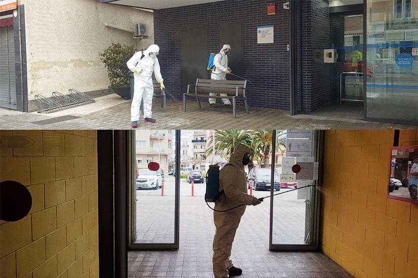 La Brigada Municipal desinfecta Roses