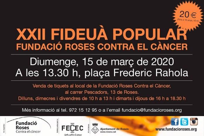 XXII Fideuada Popular de la Fundació Roses Contra el Càncer