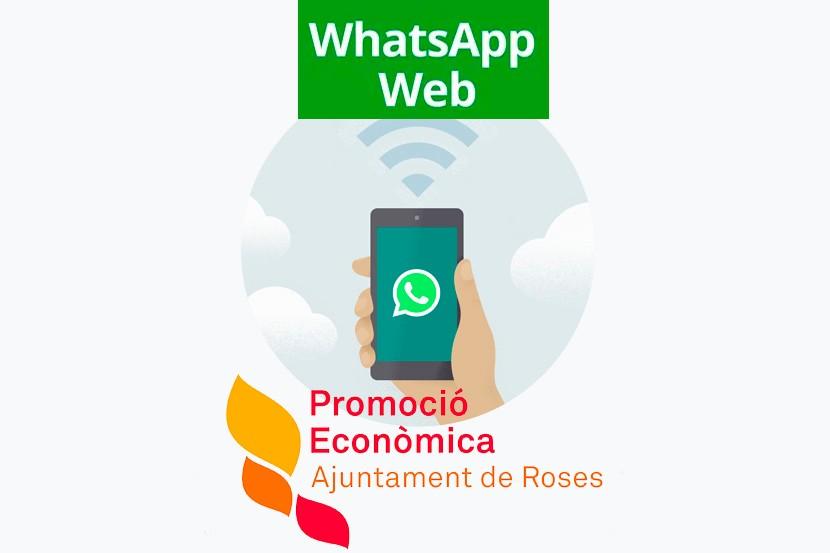 Canal WhatsApp de l'Àrea de Promoció Econòmica de Roses