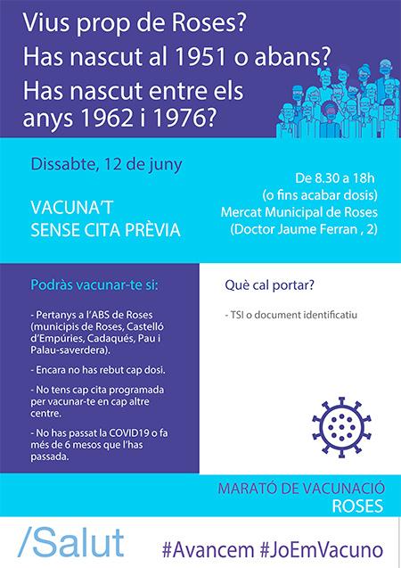 Vacunació massiva de la Covid-19 a Roses