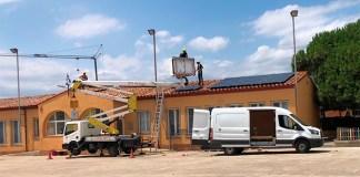Plaques solars a l'Escola de Pau