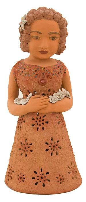 Boneca em cerâmica terracota de Morena