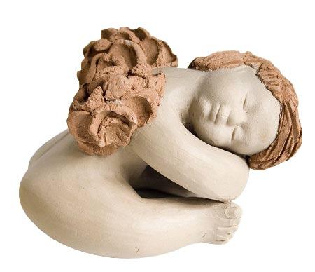 Anjinho cansado em cerâmica